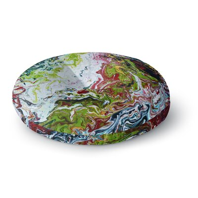 Claire Day Chaos Round Floor Pillow Size: 26 x 26
