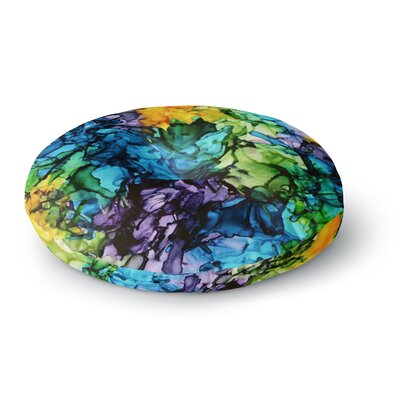 Claire Day Gra Siorai Round Floor Pillow Size: 26 x 26