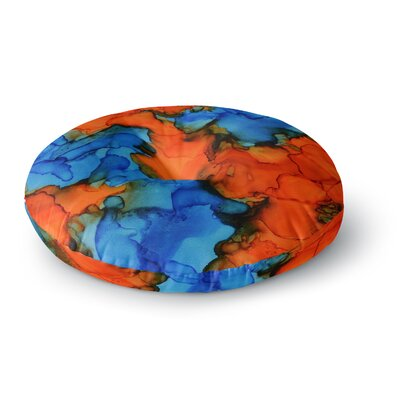 Claire Day Mile High Painting Round Floor Pillow Size: 26 x 26