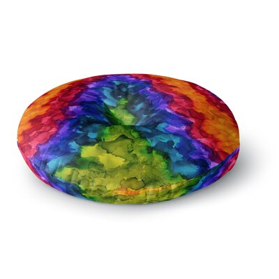 Claire Day Illusions Abstract Painting Round Floor Pillow Size: 23 x 23