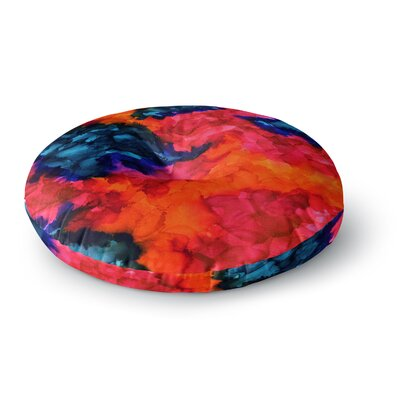 Claire Day Jaded Abstract Painting Round Floor Pillow Size: 26 x 26