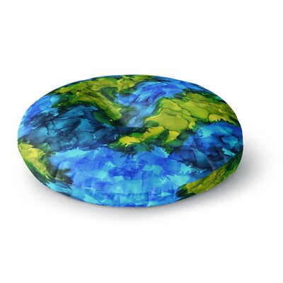 Claire Day Islands Abstract Painting Round Floor Pillow Size: 26 x 26