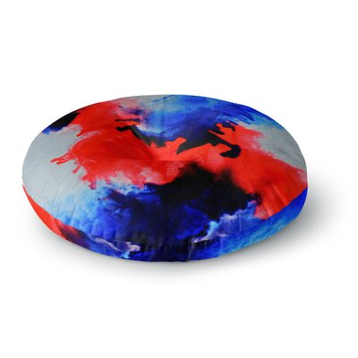 Claire Day Glory Abstract Painting Round Floor Pillow Size: 26 x 26