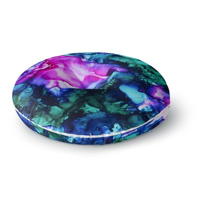 Claire Day Nebula Multicolor Abstract Painting Round Floor Pillow Size: 26 x 26