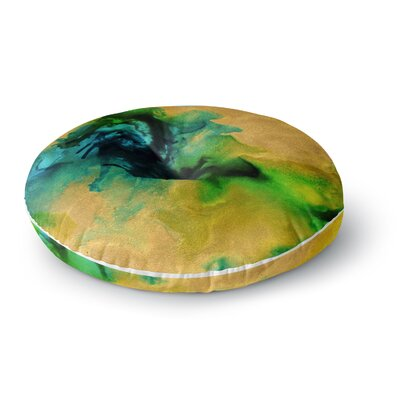 Claire Day Glamorous Abstract Painting Round Floor Pillow Size: 23 x 23