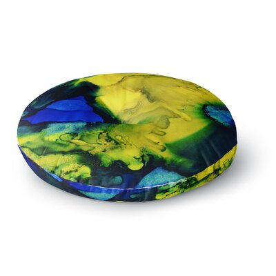 Claire Day Drifting Abstract Painting Round Floor Pillow Size: 26 x 26