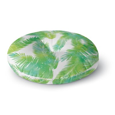Draper Tropic Summer Round Floor Pillow Size: 26 x 26, Color: Green