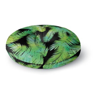 Draper Tropic Summer Round Floor Pillow Size: 23 x 23, Color: Black