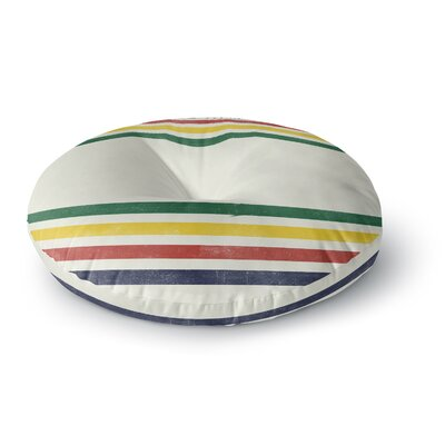 Draper Eagle Scout Stripes Round Floor Pillow Size: 26 x 26