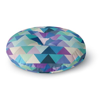 Draper Crystal Geometric Round Floor Pillow Size: 23 x 23