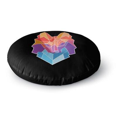 Draper Prism Wolf Round Floor Pillow Size: 26 x 26