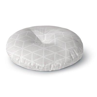 Draper Geo Wood Grain Round Floor Pillow Size: 26 x 26