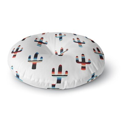 Draper Serape Cactus Digital Round Floor Pillow Size: 23 x 23