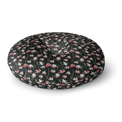 Mayacoa Studio Lilies Field Floral Round Floor Pillow Size: 23 x 23