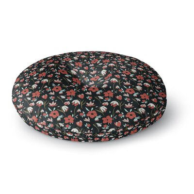 Mayacoa Studio Floral Field Floral Round Floor Pillow Size: 26 x 26