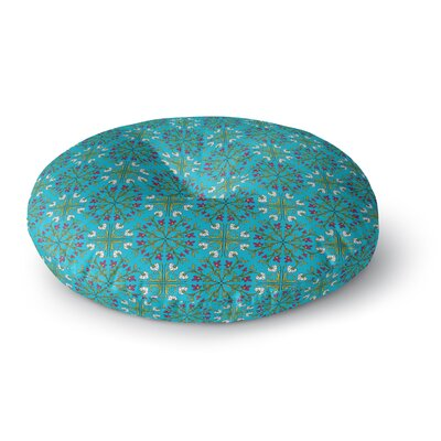 Mayacoa Studio Moroccan Tile Geometric Floral Round Floor Pillow Size: 26 x 26