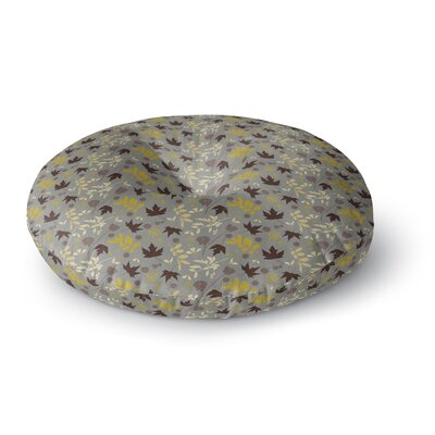 Mayacoa Studio Fall Leaves Floral Round Floor Pillow Size: 26 x 26