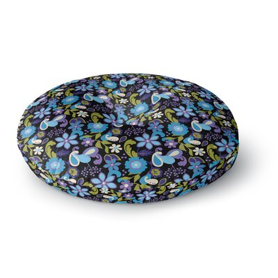 Carolyn Greifeld Florals Round Floor Pillow Size: 23 x 23, Color: Blue