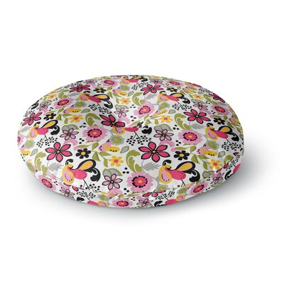 Carolyn Greifeld Florals Round Floor Pillow Size: 26 x 26, Color: Pink