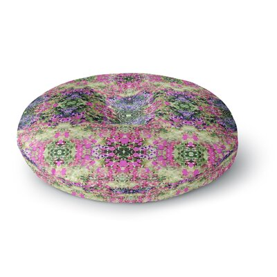 Carolyn Greifeld Cascade Reflections Abstract Round Floor Pillow Size: 23 x 23
