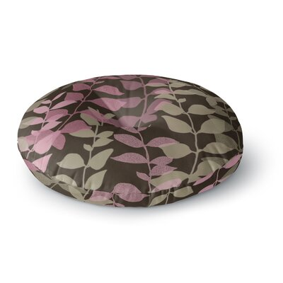 Carolyn Greifeld Leaves of Fantasy 2 Round Floor Pillow Size: 26 x 26, Color: Purple