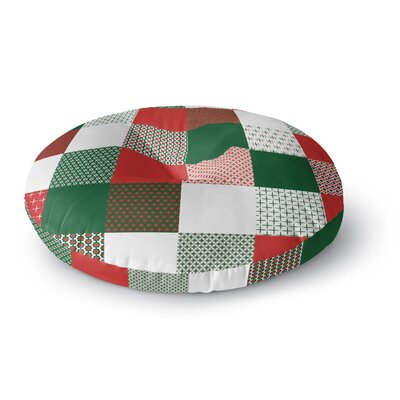 Carolyn Greifeld Holiday Patchwork Round Floor Pillow Size: 26 x 26