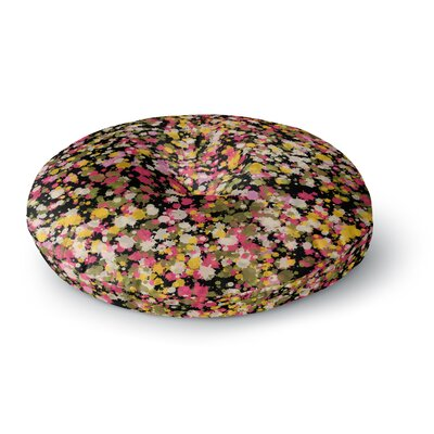 Carolyn Greifeld Splotchity Multicolor Celestial Pattern Round Floor Pillow Size: 23 x 23