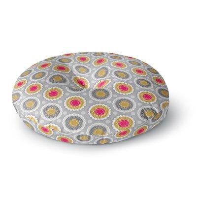 Carolyn Greifeld Dipsy Doily Modern Pattern Round Floor Pillow Size: 26 x 26