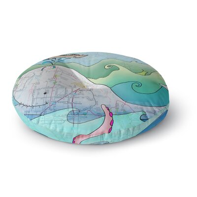 Catherine Holcombe Im on a Boat Round Floor Pillow Size: 23 x 23