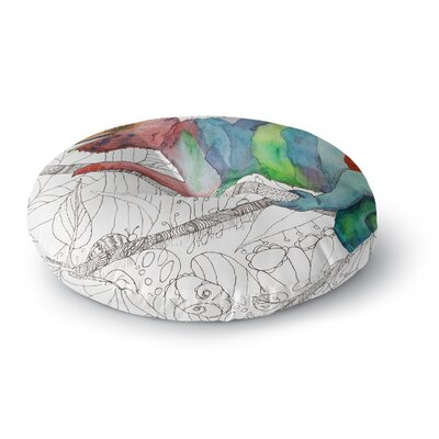 Catherine Holcombe Chameleon Fail Round Floor Pillow Size: 26 x 26