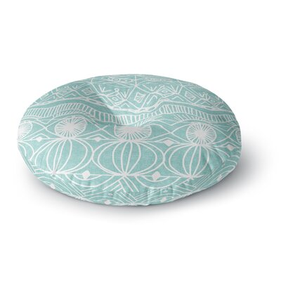Catherine Holcombe Cranberry and Cream Pattern Round Floor Pillow Size: 26 x 26, Color: Mint