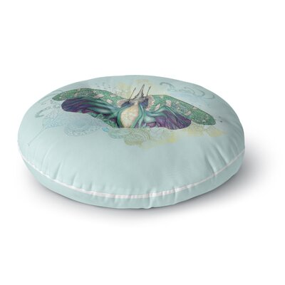 Catherine Holcombe Deco Moth Round Floor Pillow Size: 23