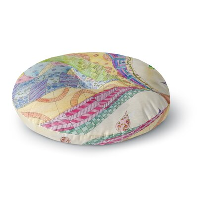 Catherine Holcombe The Painted Quilt Round Floor Pillow Size: 26