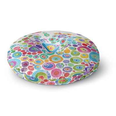 Catherine Holcombe Inner Circle Round Floor Pillow Size: 26 x 26, Color: White