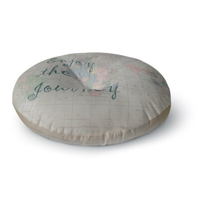 Catherine Holcombe Journey World Map Round Floor Pillow Size: 23 x 23