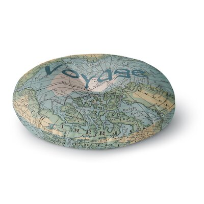 Catherine Holcombe Voyage Map Round Floor Pillow Size: 23 x 23