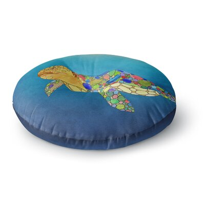 Catherine Holcombe Bubbles Turtle Round Floor Pillow Size: 26 x 26