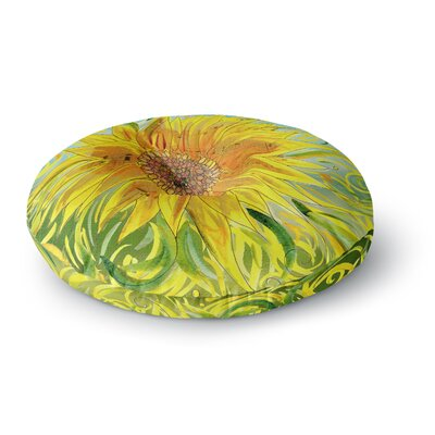 Catherine Holcombe Sunflower Symphony Round Floor Pillow Size: 26 x 26