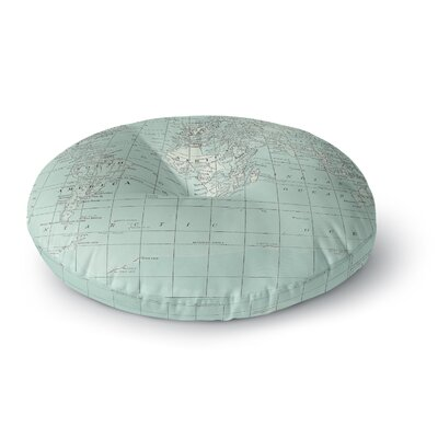 Catherine Holcombe the Old World Round Floor Pillow Size: 26 x 26, Color: Teal