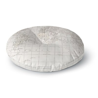 Catherine Holcombe the Old World Round Floor Pillow Size: 23 x 23, Color: White