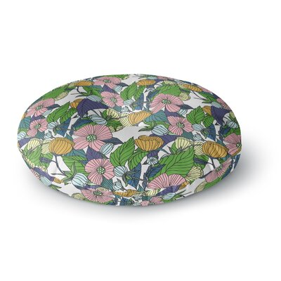 Catherine Holcombe Spring Foliage Floral Round Floor Pillow Size: 26 x 26