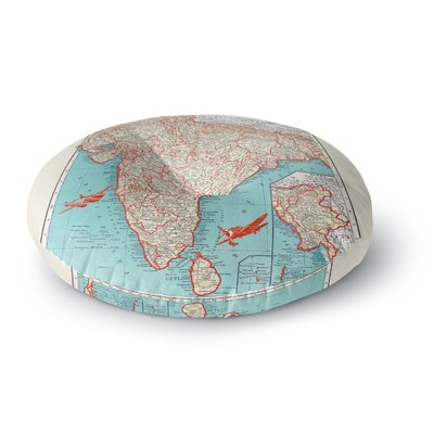 Catherine Holcombe Travel to India Round Floor Pillow Size: 23 x 23
