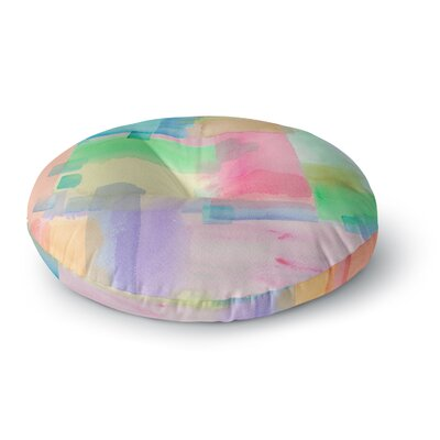 Catherine Holcombe Watercolor Brushstrokes Modern Round Floor Pillow Size: 26 x 26