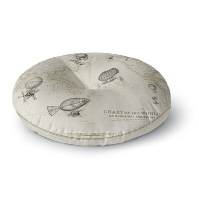 Catherine Holcombe The Southern Route Round Floor Pillow Size: 23 x 23