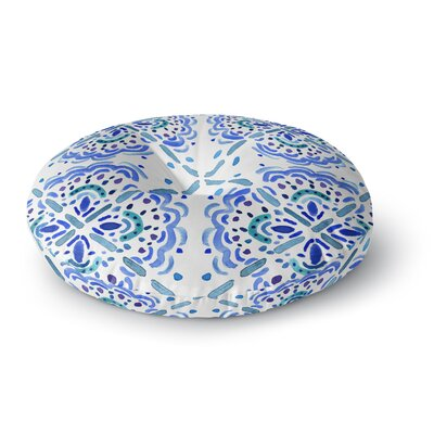 Catherine Holcombe Amalifi Coast Painting Round Floor Pillow Size: 26 x 26