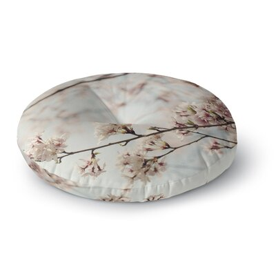 Catherine McDonald Japanese Cherry Blossom Round Floor Pillow Size: 23 x 23