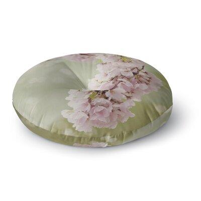 Catherine McDonald Cherry Blossom Round Floor Pillow Size: 26 x 26