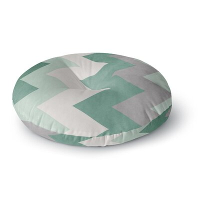 Catherine McDonald Winter Round Floor Pillow Size: 23 x 23, Color: Green