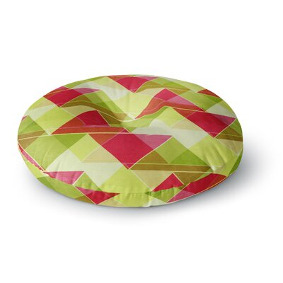 Catherine McDonald Southwest Round Floor Pillow Size: 23 x 23, Color: Lemon