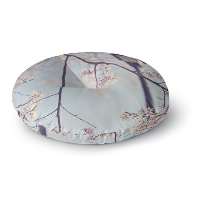 Catherine McDonald Walk with Me Cherry Blossom Round Floor Pillow Size: 23 x 23